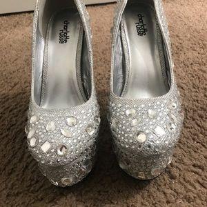 Glam embellished heels